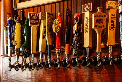 Example of tap handles.