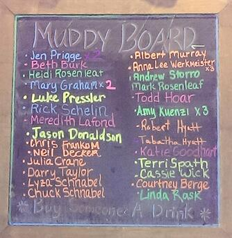 Muddy Creek's Buy Someone a Drink Board